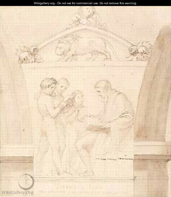 Design for a Monument of John Lyon - John Flaxman