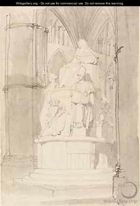 Design for the Monument of Lord Mansfield Westminster Abbey 3 - John Flaxman