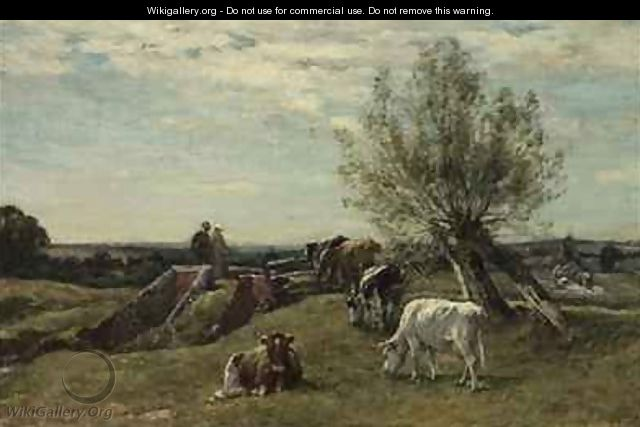 Landscape and Cattle - Mark Fisher