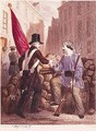 A Worker Sharing his Bread with a Student Carrying a Red Flag - (after) Fischer, Georges Alexandre
