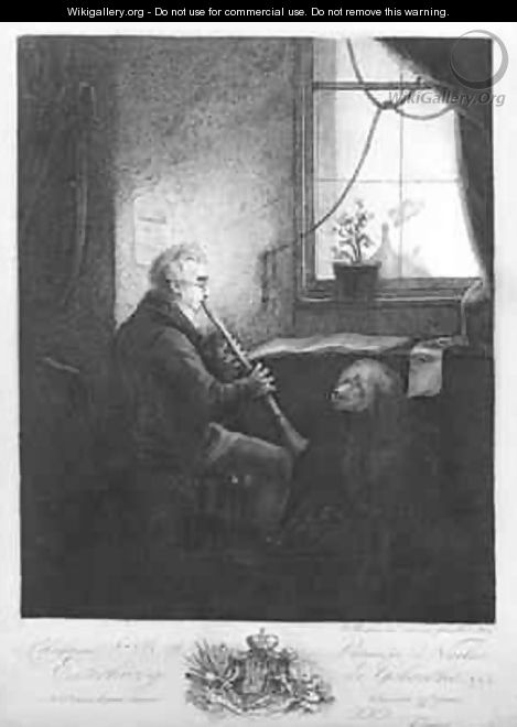 Duke Esterhazy Playing the Clarinet - Josef Fischer