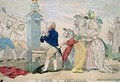 A Scene at Cheltenham Satirical Cartoon - S.W. Fores