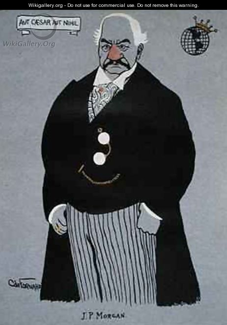 Caricature of John Pierpont Morgan 1837-1913 from Millionaires of America - Carlo de Fornaro