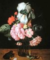 Still Life with Flowers a Frog and a Lizard - Jan Baptist van Fornenburgh