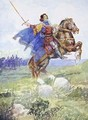 It seemed as if he rode alone to defy the whole English army - A.S. Forrest