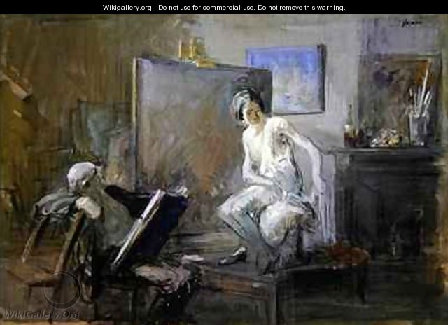 The painter with his model - Jean-Louis Forain