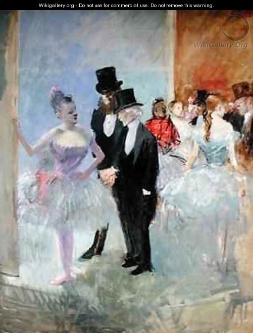 The Wings of the Opera in the Foyer - Jean-Louis Forain