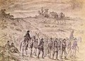 The Battle of Gettysburg Prisoners Belonging to General Langstreets Corps Captured by Union Troops Marching to the Rear Under Guard - Edwin Forbes