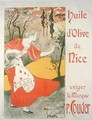 Poster advertising olive oil made by P Couder Nice - Foache