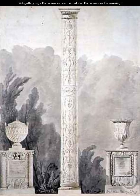 Designs for Neo Classical monuments - Pierre Francois Leonard Fontaine