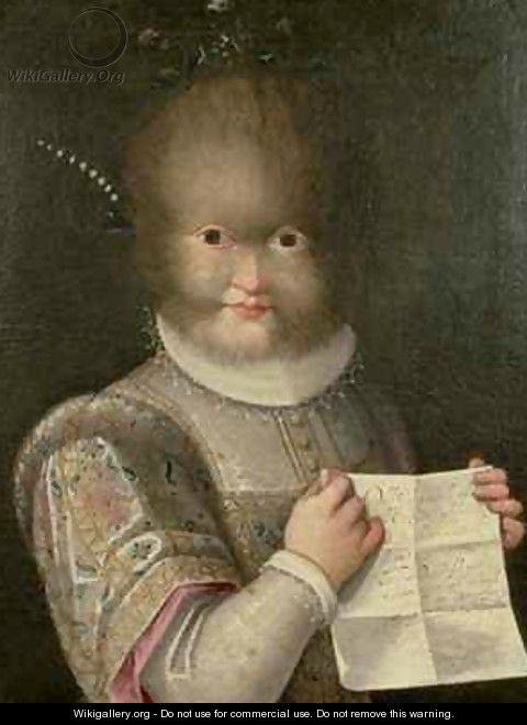Portrait of a Girl Covered in Hair - Lavinia Fontana