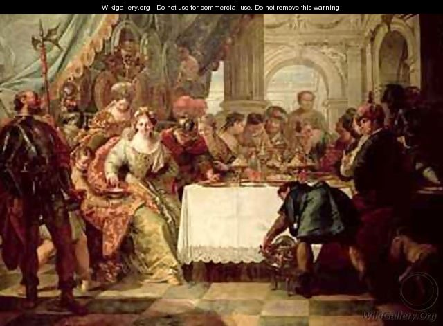 The Banquet of Cleopatra - Francesco Fontebasso