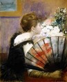 Woman with a fan - Jean-Louis Forain