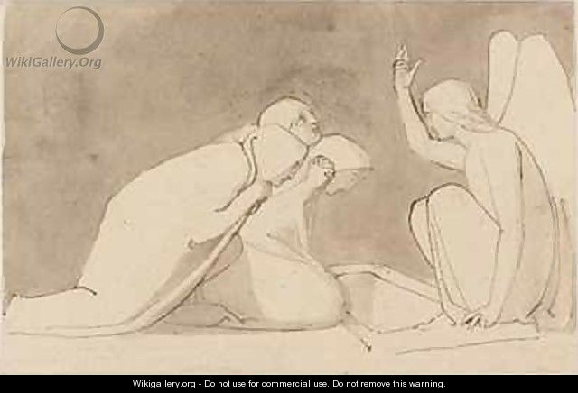 Three Marys at the Sepulchre - John Flaxman