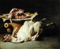Still Life of a Chicken and Cutlets - Guillaume-Romain Fouace