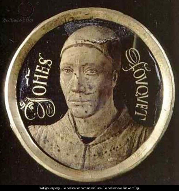 Self portrait medallion - Jean Fouquet
