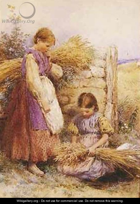 The Young Gleaners - Myles Birket Foster
