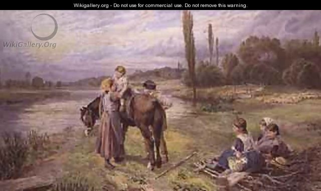 The Ride on the Pony - Myles Birket Foster