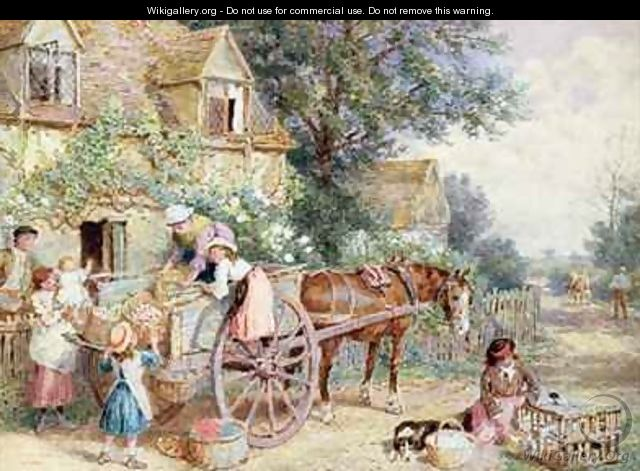 Loading the Cart for Market - Myles Birket Foster