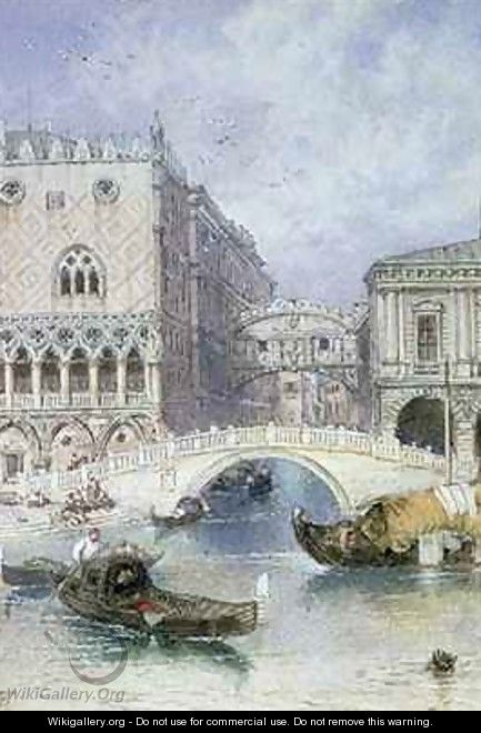 The Bridge of Sighs Venice - Myles Birket Foster