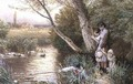 Children Playing by a Stream - Myles Birket Foster