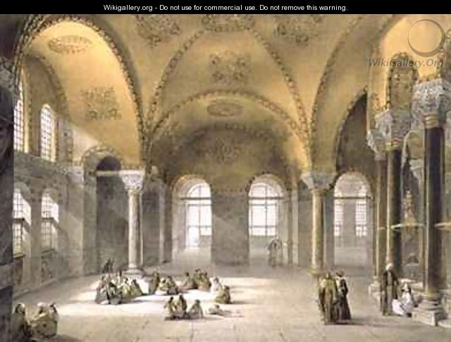 Haghia Sophia plate 12 the Meme Gallery in the south west corner - (after) Fossati, Gaspard