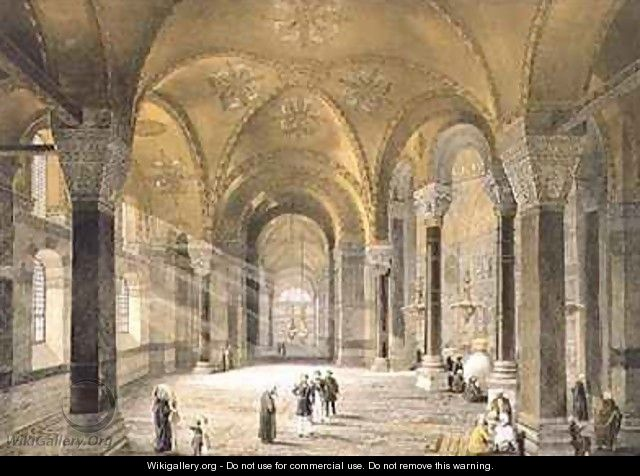 Haghia Sophia plate 5 the north entrance - (after) Fossati, Gaspard