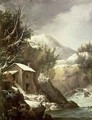 Winter landscape - Francesco Foschi