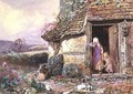 At the Cottage Door - Myles Birket Foster