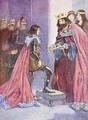 The King made the Black Prince a Knight of the Order of the Garter - A.S. Forrest