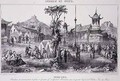 General Montaubans Quarters in the Great Pagoda at Tche Fou from The War in China - G.C. de Fortavion
