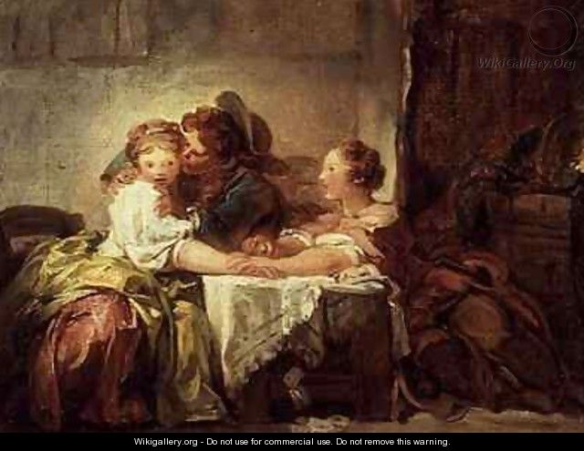 The Prize of a Kiss - Jean-Honore Fragonard