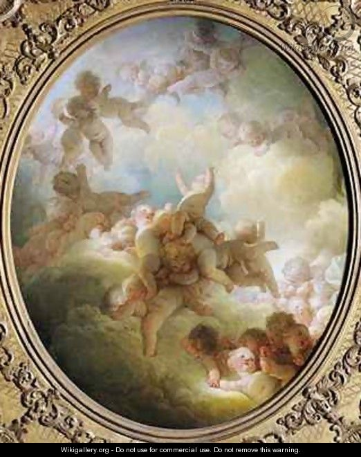 The Swarm of Cupids - Jean-Honore Fragonard