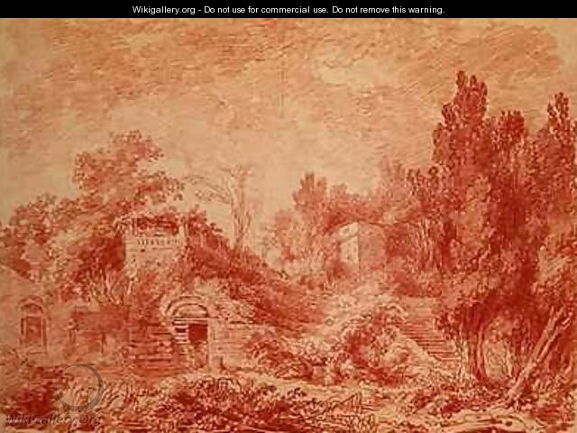 Ancient Theatre Hadrians Villa near Tivoli - Jean-Honore Fragonard