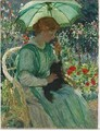 The Green Parasol - Emanuel Phillips Fox