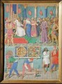 Jesus before Pilate from The Hours of the Cross and the Holy Spiri - Jean Fouquet