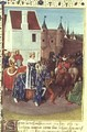 Entry into Paris of King Jean II 1319-64 Le Bon and Queen Jeanne of Boulogne - Jean Fouquet