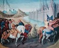 Entry of Louis VII c 1120-80 King of France and Conrad III 1093-1152 King of Germany into Constantinople during the Crusades - Jean Fouquet