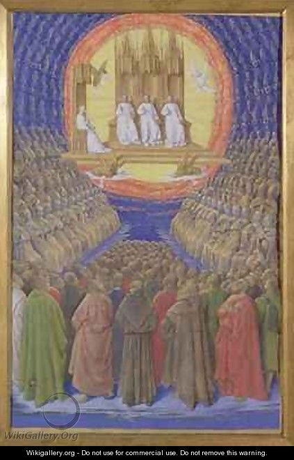 Enthronement of the Virgin or The Trinity in its Glory - Jean Fouquet
