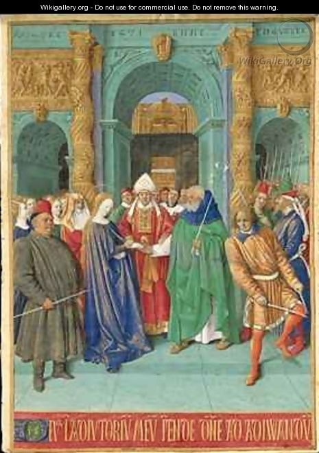 The Marriage of the Virgin - Jean Fouquet