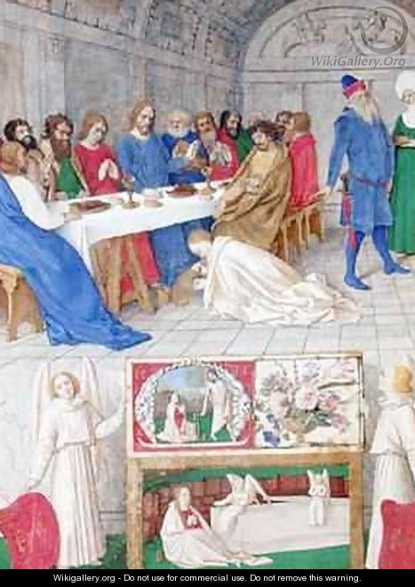 The Suffering of the Saints Christ in the House of Simon the Pharisee - Jean Fouquet