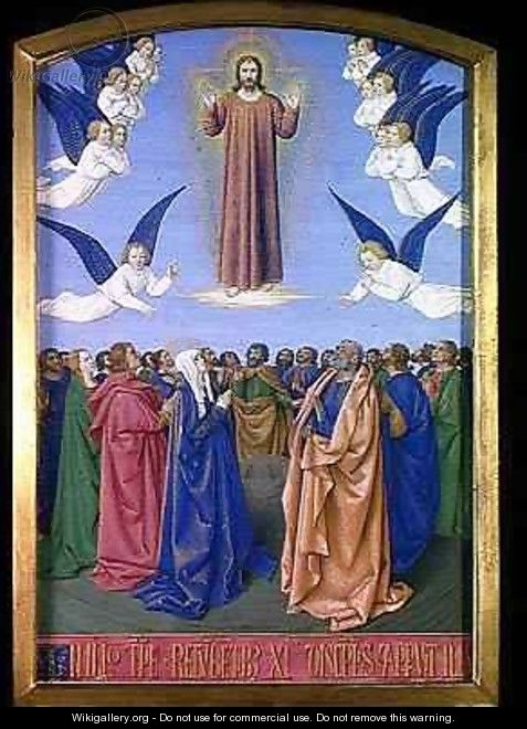 The Ascension from the Hours of Etienne Chevalier - Jean Fouquet