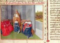 Urban II 1035-99 Preaching the Crusade at Clermont in the Presence of King Philippe I 1053-1108 of France in 1095 - Jean Fouquet