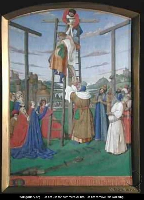 The Deposition from the Hours of the Cross and the Holy Spirit - Jean Fouquet