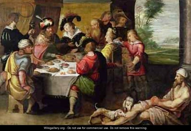 The Parable of the Rich Man and Lazarus - Frans the younger ...