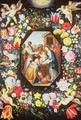Adoration of the Magi Surrounded by a Garland of Flowers - Frans the younger Francken