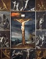 The Crucified Christ Enframed with Scenes of Martyrdom of the Apostles - Frans the younger Francken