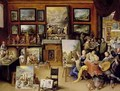 Pictura Poesis and Musica in a Pronkkamer - Frans the younger Francken
