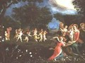 Madonna and Child in Landscape Feted by Dancing Cherubs - Frans the younger Francken