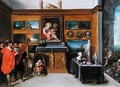 An Interior with a collection of Paintings - Frans the younger Francken